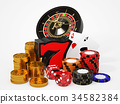 賭場遊戲圖像 34582384