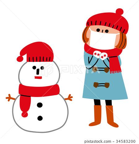 雪人 面具 面膜 34583200