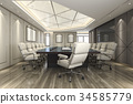 business meeting room on high rise office building 34585779