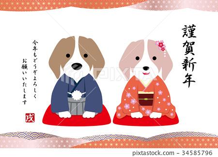 新年賀卡模板(日文) 34585796