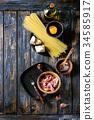 乾酪沙司 意大利面 原料 34585917