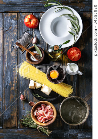 Ingredients for pasta 34585920
