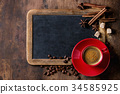 Chalkboard and coffee 34585925