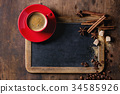 Chalkboard and coffee 34585926