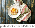 Italian pasta carbonara 34585932