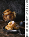 Homemade donuts with sugar powder 34585946