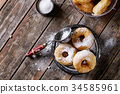 Homemade donuts with sugar powder 34585961