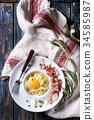 Italian pasta carbonara 34585987