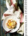 干酪沙司 意大利面 细意大利面 34585994
