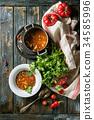 湯 食物 食品 34585996