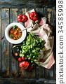 汤 食物 食品 34585998