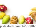 mango banana fruit 34586007