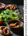汤 胡萝卜 烹饪 34586024