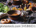 soup, table, setting 34586031