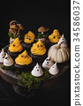 Halloween decorated sweet table 34586037