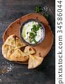 labneh fresh lebanese cream cheese dip 34586044