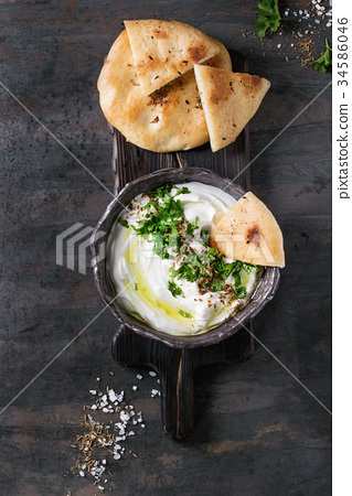 labneh fresh lebanese cream cheese dip 34586046