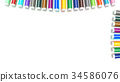 Colored markers isolated on the white background. 34586076
