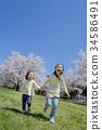 姐妹 公園 櫻花 34586491