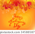 Happy Thanksgiving Day Background with Shiny 34586587