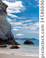 Cathedral Cove beach near Hahei in New Zealand 34586696