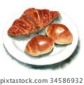 빵, 수채화, 수채 34586932
