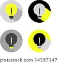 Electric lamps. Vector drawings. 34587147