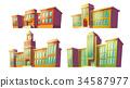 Set of vector cartoon illustrations of various 34587977