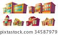 Set of vector cartoon illustrations cartoon of 34587979