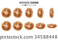 3d,bronze,coin 34588448