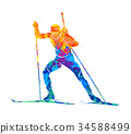 Biathlon Abstract sport 34588499