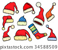Santa stocking cap. 34588509