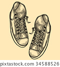 illustration with sneakers. 34588526