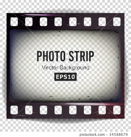 Photo Strip Vector. Realistic Empty Frame Strip 34588679
