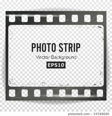 Photo Strip Vector. Realistic Empty Frame Strip 34588680