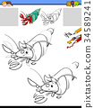 drawing and coloring task with hermit crab 34589241