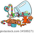candy group cartoon illustration 34589271