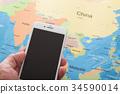 스마트폰, 스마트 폰, 세계지도 34590014
