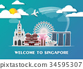 Singapore Landmark Global Travel And Journey. 34595307