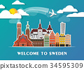 Sweden Landmark Global Travel And Journey. 34595309