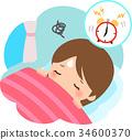 morning, alarm clock, painful 34600370