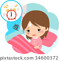 alarm clock, get up, getting up 34600372