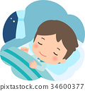 to sleep, gents, male 34600377