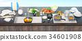 utensils, table, kitchen 34601908