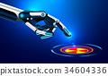 หุ่นยนต์,ปุ่,แนวคิด 34604336