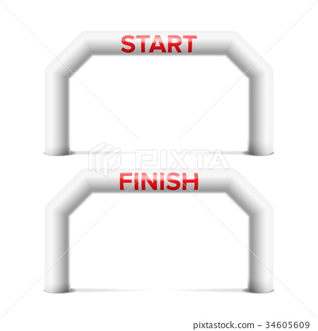 Inflatable Arch Isolated Vector. Archway, Suitable 34605609