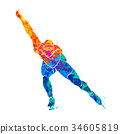 Abstract speed skaters 34605819