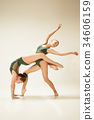 The two modern ballet dancers 34606159