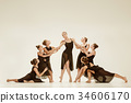 The group of modern ballet dancers 34606170
