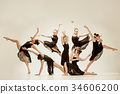 The group of modern ballet dancers 34606200